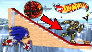 Download Super Smash Bros. Ultimate - Who Can OUTRUN The FLAMING SMASH BALL On The Hot Wheels Track? Video