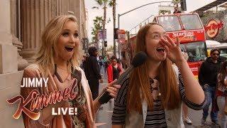 Download Guest Host Jennifer Lawrence Surprises People on Hollywood Blvd. Video