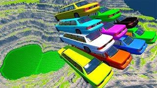 Download BeamNG drive - Car Pyramid Cliff Falls And Crashes #2 Video