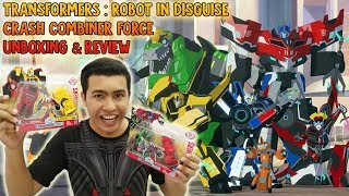 Download Transformers : Robot In Disguise Crash Combiner Force Unboxing & Review Video