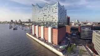 Download Hamburg Elbphilharmonie and Hafencity Aerial View 4k Video