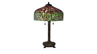 Download Dale Tiffany Tulip Tiffany Style Table Lamp Video