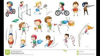 Download names of sports and sport games with pictures for kids education   learn videos for kids Video