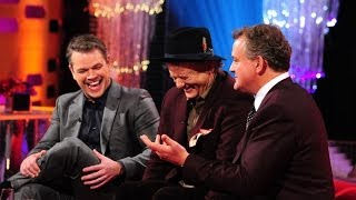 Download Hugh Bonneville justifies his red lips on 'Top Gear' - The Graham Norton Show: Episode 16 - BBC One Video