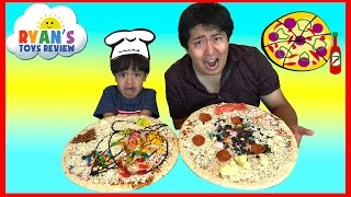 Download PIZZA CHALLENGE RYAN TOYSREVIEW with Bean Boozled Gross Pizza Candy Surprise Eggs Opening Video