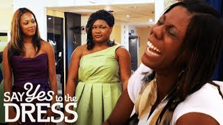 Download Bride Laughs at Plus Size Bridesmaid | Say Yes To The Dress Bridesmaids Video