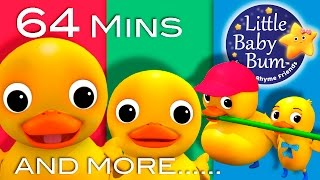 Download Six Little Ducks | Plus Lots More Nursery Rhymes | 64 Minutes Compilation from LittleBabyBum! Video