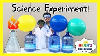 Download BLOWING UP GIANT BALLOON Baking Soda and Vinegar Experiment Easy Science Experiments for Kids Video