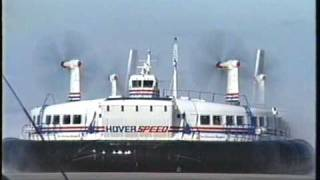 Download 1993 The Princess Margaret Hoverspeed hovercraft arrives at Calais Video