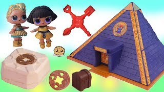 Download LOL Surprise Doll Treasure X Gold Dig At Pyramids ! Blind Bag Toy Video Video