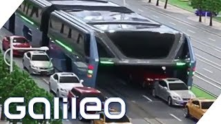 Download Fake oder Fakt: Der Anti-Stau-Bus in China | Galileo | ProSieben Video