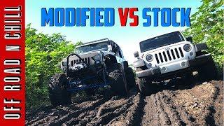 Download How Good is your Stock Jeep WranglerJK? | Modified Wrangler vs Stock Wrangler Mudding Video