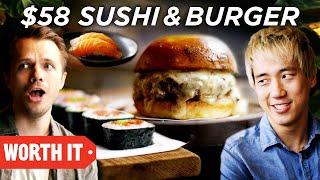 Download $10 Sushi & Burger Vs. $58 Sushi & Burger Video