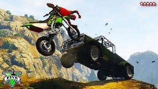Download GTA 5 Next Gen: Custom DIRT BIKE OFF-ROADING | Epic GTA Stunts, Jump & Races (GTA Online) Video