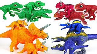 Download Dino Mecard Double figure and tiny dinosaur 15 set! Tyrannosaurus, Triceratops! - DuDuPopTOY Video