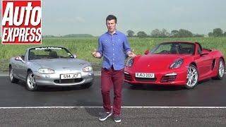 Download Building a modified Mazda MX-5/ Miata to beat a new Porsche Boxster (Pt 1) Video
