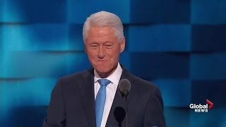 Download Full speech: Bill Clinton discusses meeting Hillary, her accomplishments, right choice for president Video