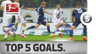 Download Curlers, Volleys and the Perfect Counterattack - The Top 5 Goals from Matchday 14 Video