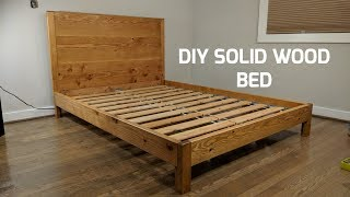 Download DIY Solid Wood Bed | NATHAN BUILDS Video