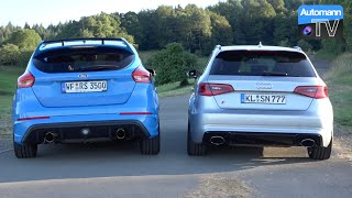 Download Ford Focus RS Mk3 vs. Audi RS3 - RACE & SOUND (60FPS) Video
