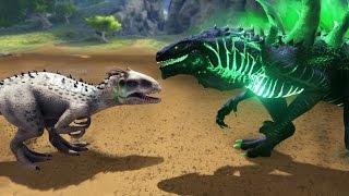 Download GODZILLA VS INDOMINUS REX!!! - ARK Survival Evolved Modded Video