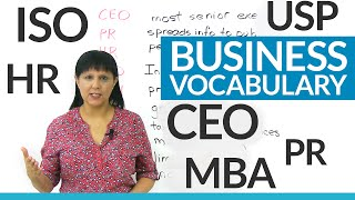 Download Do you know these business abbreviations? CEO, Inc., Ltd., HR... Video