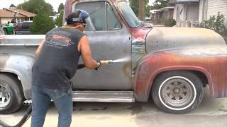 Download Blasting a 1954 Ford F100 Video