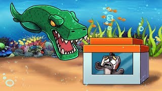 Download Minecraft   Underwater Dinosaur vs Secure Fortress! (Trap the Mosaurous Challenge) Video