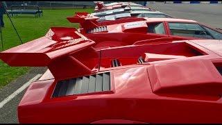 Download 8 Lamborghini Countach on road and track Video