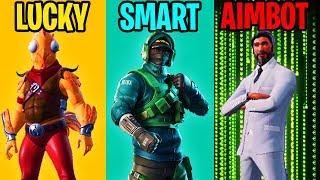 Download LUCKY vs SMART vs AIMBOTTER - Fortnite Battle Royale Video