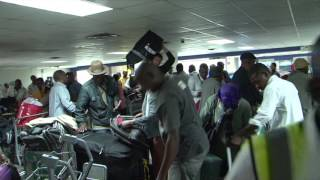 Download Port-Au-Prince, Haiti. Day 1. Getting out of the airport. Video