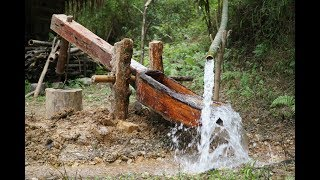 Download Primitive Skills: Water powered hammer (Monjolo) Part1 Video
