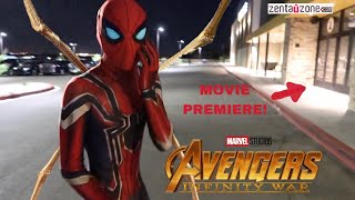 Download REAL LIFE INFINITY WAR SPIDER-MAN SUIT! (REVIEW) *PLUS MOVIE PREMIERE* Video