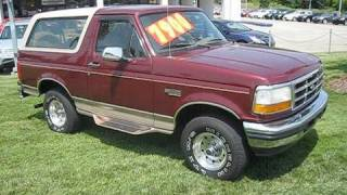 Download 1996 Ford Bronco Eddie Bauer Start Up, Engine, and In Depth Tour Video