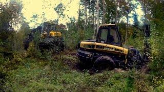 Download Ponsse Ergo& Ponsse Elephant ″Wpadka″ Ponsse stuck in mud Video