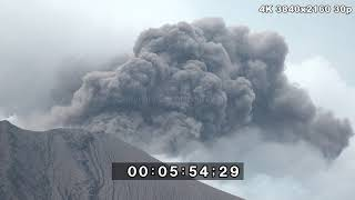 Download Explosive Eruptions, Drone Footage Shinmoedake & Sakurajima - 4K Stock Footage Reel Video