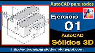 Download Ejercicio 01 - AutoCAD Sólidos 3D Video