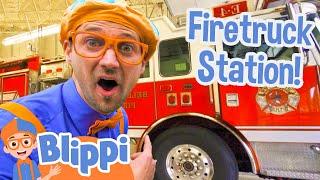 Download Blippi Explores Fire Trucks for Children | Blippi Fire Truck Song Video