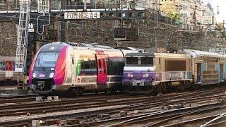 Download Rail Live 15. Paris Railway - Amazing Rush Hour ! St Lazare Station. Video