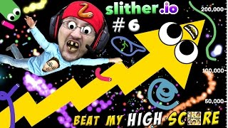 Download SLITHER.io #6: BEAT MY HIGHSCORE! Low Quality is Awesome! (FGTEEV Duddy Worm Snake Gameplay) Video