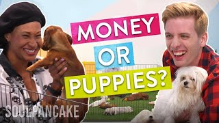 Download People Choose Between Money or Puppies! | The Science of Generosity Video