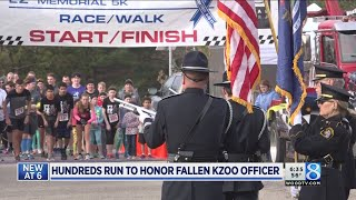 Download Hundreds run to honor fallen Kzoo officer Video