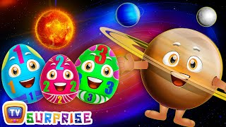 Download Surprise Eggs Learning Space - Planets Of The Solar System – Sun, Moon, Earth & Stars - ChuChu TV Video
