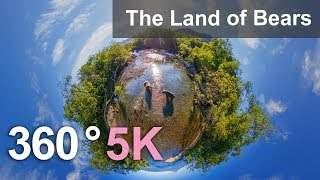 Download 360 video, The Land of Bears, Kamchatka, Russia. 5K aerial video Video