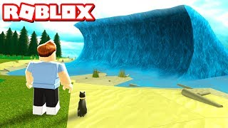 Download SURVIVE THE MEGA WAVE IN ROBLOX Video
