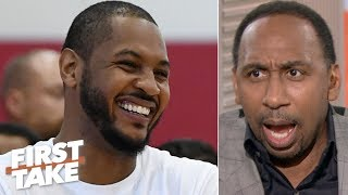 Download LeBron has the clout to get Carmelo Anthony signed - Stephen A. | First Take Video