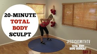 Download 20 Minute Total Body Sculpting Resistance Band Workout for All Levels of Exercise Video