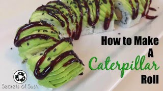 Download Using Avocado on Top of Sushi: How to Make a Caterpillar Roll Video