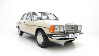 Download An Iconic Classic Mercedes-Benz W123 230E with Just 42,346 Miles from New - SOLD! Video