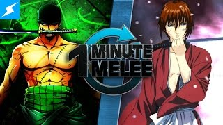 Download One Minute Melee - Roronoa Zoro Vs Rurouni Kenshin (One Piece vs Samurai X) Video